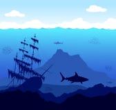水下的世界 免版税库存图片
