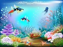 水下的世界 库存例证