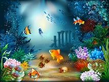 水下的世界 向量例证