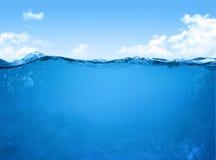 水下的场面 库存图片
