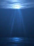 水下的场面 免版税库存照片