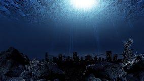 水下的城市 库存照片