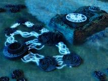 水下的城市 免版税库存照片