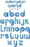 水下的字母表 免版税库存照片