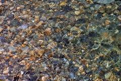 水下的岩石02 库存照片