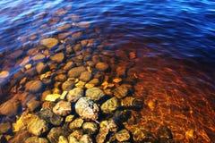 水下的岩石 免版税库存图片