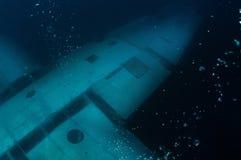 水下的平面翼 库存图片