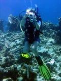水下的摄影师 免版税图库摄影