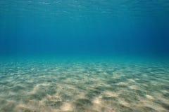 水下的沙子地中海自然场面 库存照片
