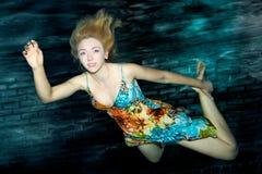 水下的纵向 免版税库存图片