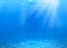 水下的背景 免版税库存照片