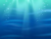 水下的背景 库存图片