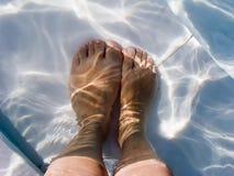 水下的英尺 免版税库存图片