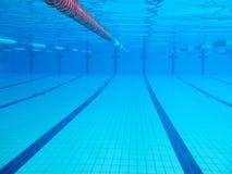 水下的wimming池图象 免版税库存照片