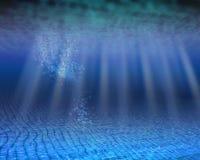 水下空白海洋的场面 免版税库存图片