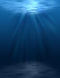 水下空白的场面 免版税库存照片