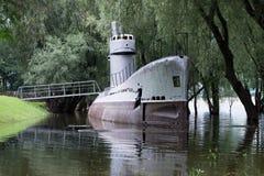 水下纪念碑 免版税库存图片