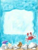 水下背景的场面 免版税库存图片