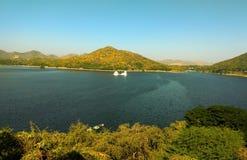 水公园在乌代浦拉贾斯坦 免版税库存图片