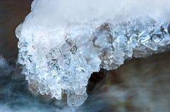 水冻冰块石头纹理  免版税库存图片