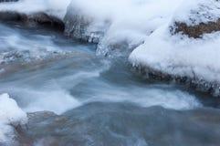 水冻冰块石头纹理  免版税库存照片