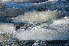 水冻冰块石头纹理  免版税图库摄影