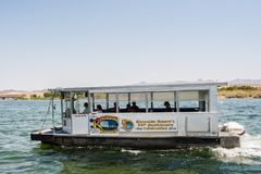 水出租汽车在劳克林,内华达 免版税库存照片