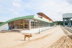 水力发电厂的建筑 库存照片