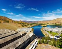 水力发电的岗位 免版税图库摄影