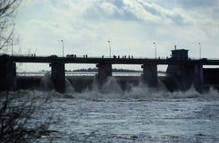 水力发电的岗位 免版税库存照片