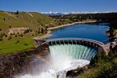 水力发电的水坝 库存图片