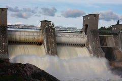 水力发电的imatra发电站 免版税库存图片