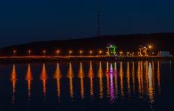 水力发电站在Novodnestrovsk乌克兰 免版税库存照片