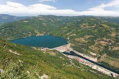 水力发电, Perucac,德里纳河水坝,塞尔维亚 免版税图库摄影