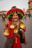 水卖主 djemaa el fna正方形 马拉喀什 摩洛哥 免版税库存照片