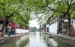 水周庄的村庄 免版税图库摄影