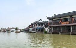 水周庄的村庄 免版税库存照片