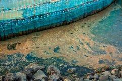 水和塑料污染 库存图片