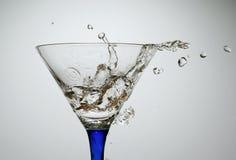 水和玻璃 库存图片