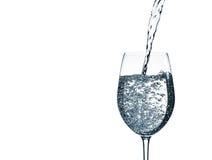 水和玻璃 免版税库存图片