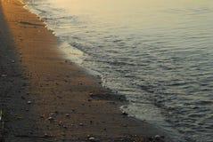 水和石头在丹麦 库存照片
