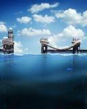 水和码头 免版税库存照片