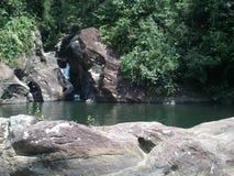 水在balangoda区域落 免版税库存照片