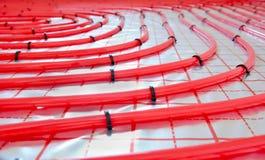 水地下暖气设备管子 免版税库存照片