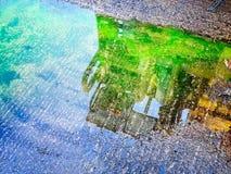 水坑反射 图库摄影