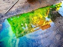 水坑反射 免版税库存图片