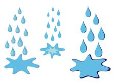 水坑雨 向量例证