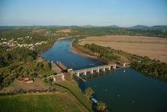 水坝和Bom Retiro水门做南水道 免版税库存图片