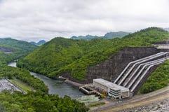水坝在泰国 免版税库存照片