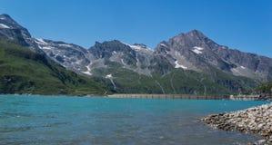 水坝在Kaprun奥地利 库存照片